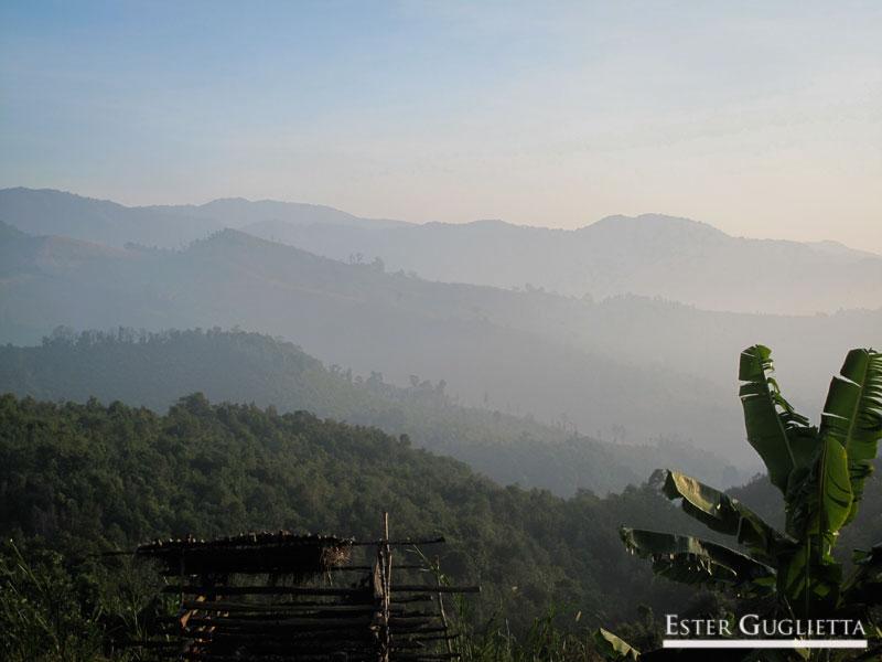 Paisaje desde el poblado Ban Long Lath